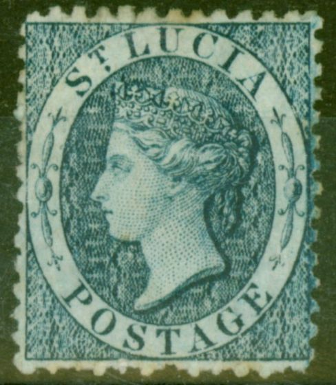 Valuable Postage Stamp from St Lucia 1863 (4d) Indigo SG7 Fine Mtd Mint