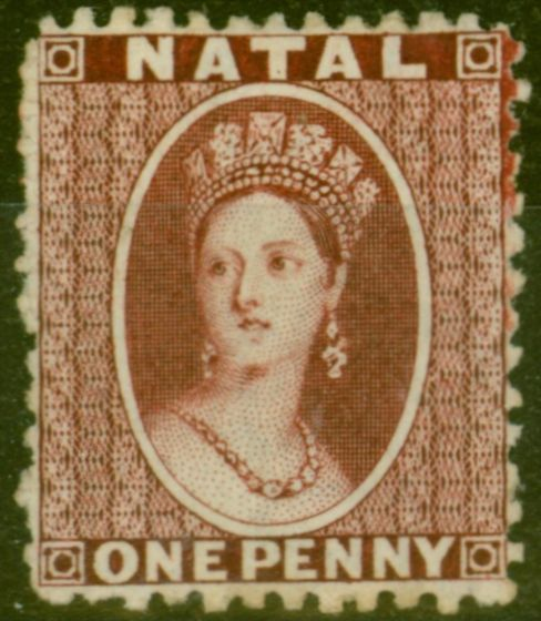 Collectible Postage Stamp from Natal 1863 1d Brown-Red SG20 V.F Very Lightly Mtd Mint Lovely Quality