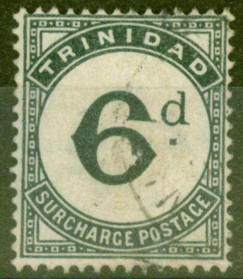 Valuable Postage Stamp from Trinidad 1885 6d Slate-Black SGD7 Fine Used