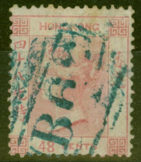 Collectible Postage Stamp from Hong Kong 1862 48c Rose SG6 Fine Used