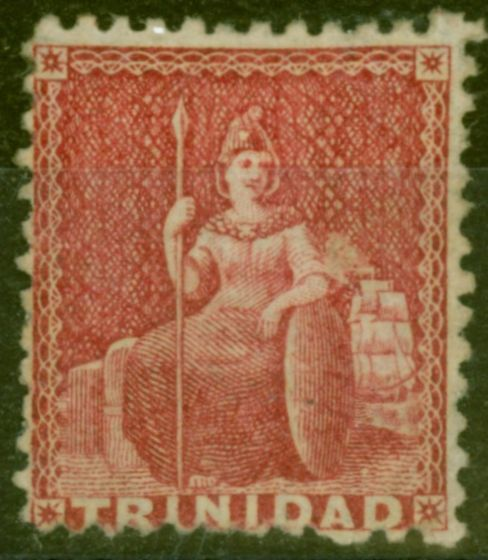 Valuable Postage Stamp from Trinidad 1863 Lake SG69 Fine Mtd Mint