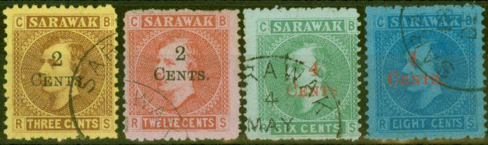 Old Postage Stamp from Sarawak 1899 set of 4 SG32-35 V.F.U
