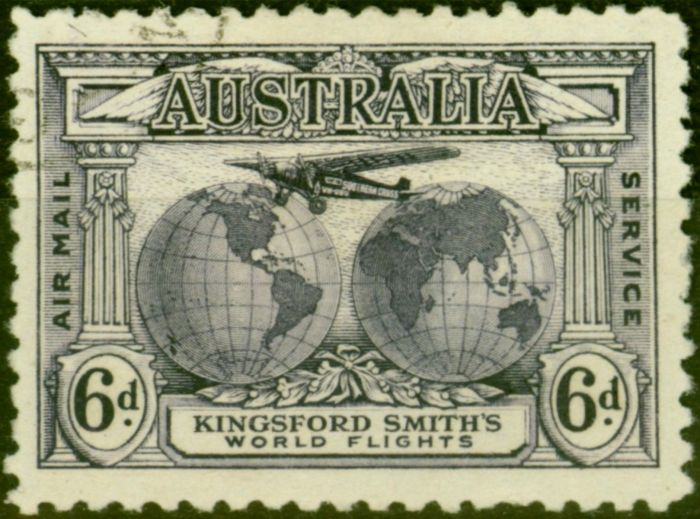 Collectible Postage Stamp from Australia 1931 6d Violet SG123 Fine Used