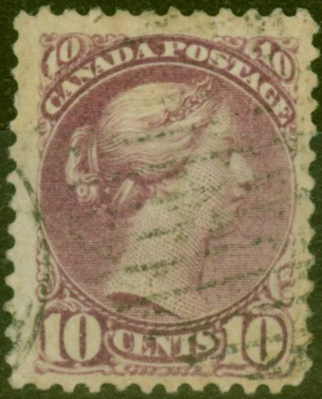 Collectible Postage Stamp from Canada 1888 10c Deep Lilac-Magenta SG88 Fine Used