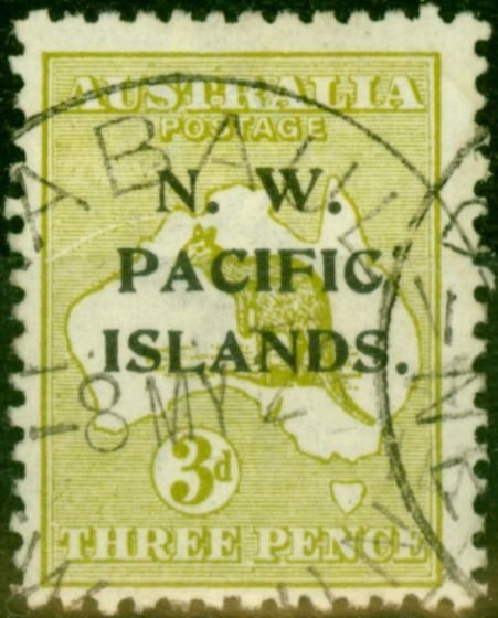 New Guinea 1919 3d Greenish Olive SG109 Fine Used