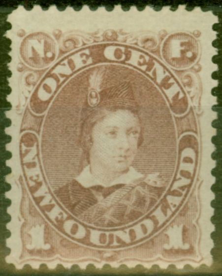 Collectible Postage Stamp from Newfoundland 1880 1c Red-Brown SG44b Fine Lightly Mtd Mint
