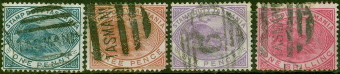 Rare Postage Stamp from Tasmania 1880 set of 4 SGF26-F29 Good Used