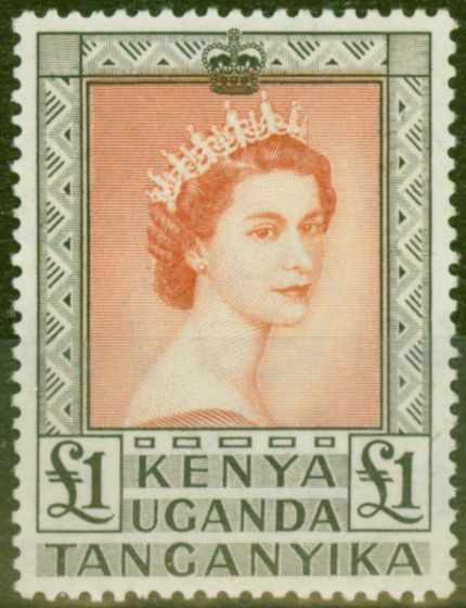Collectible Postage Stamp from KUT 1954 £1 Brown-Red & Black SG180 V.F MNH