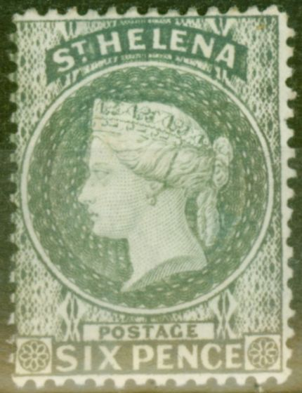 Collectible Postage Stamp from St Helena 1887 6d Grey SG44 Fine & Fresh Mtd Mint