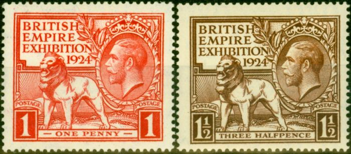 Old Postage Stamp from GB 1924 Empire Set of 2 SG430-431 Fine MNH