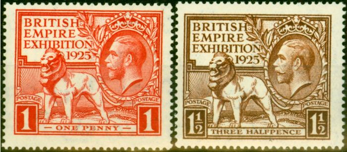 Old Postage Stamp from GB 1925 Empire Set of 2 SG432-433 Fine MNH