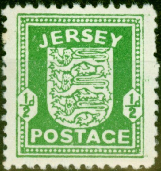 Jersey 1942 1/2d Bright Green SG1 Fine MNH
