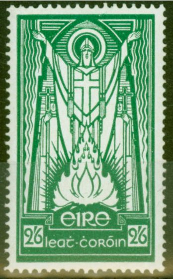 Old Postage Stamp from Ireland 1943 2s6d Emerald Green SG123 V.F MNH