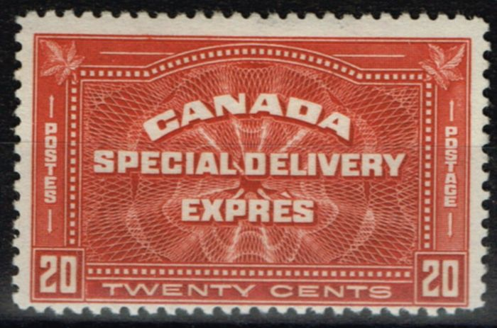 Collectible Postage Stamp from Canada 1930 20c Brown-Red SGS6 Fine & Fresh Lightly Mtd Mint