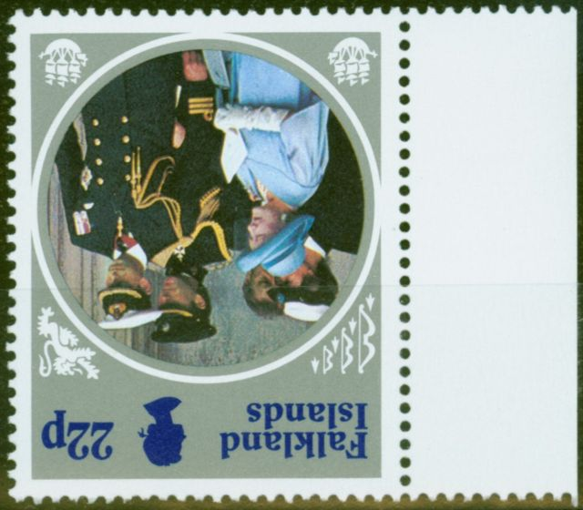 Old Postage Stamp from Falkland Islands 1985 22p SG506w Wmk Inverted V.F MNH