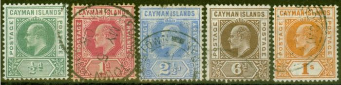 Valuable Postage Stamp from Cayman Islands 1905 set of 5 SG8-12 Fine Used