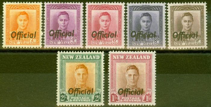 Rare Postage Stamp from New Zealand 1947 set of 7 SG0152-0158 Fine & Fresh Mtd Mint