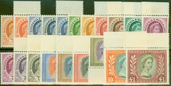 Valuable Postage Stamp from Rhodesia & Nyasaland 1954 Extended set of 20 SG1-15 All Types Superb MNH & VLMM
