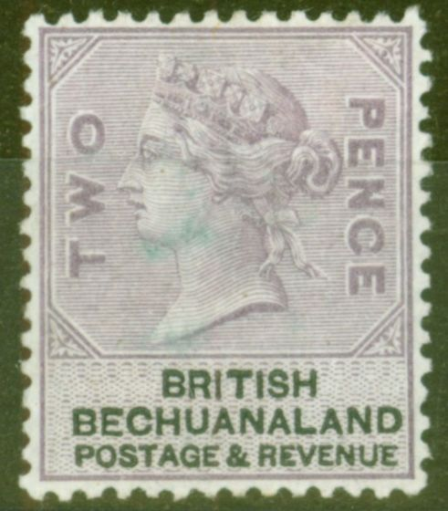 Rare Postage Stamp from Bechuanaland 1888 2d Lilac & Black SG11 Mtd Mint