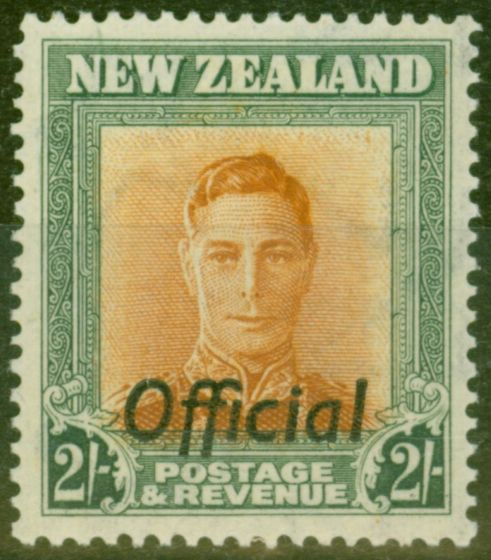 Valuable Postage Stamp from New Zealand 1947 2s Brown-Orange & Green SG0158 Wmk Sideways V.F MNH