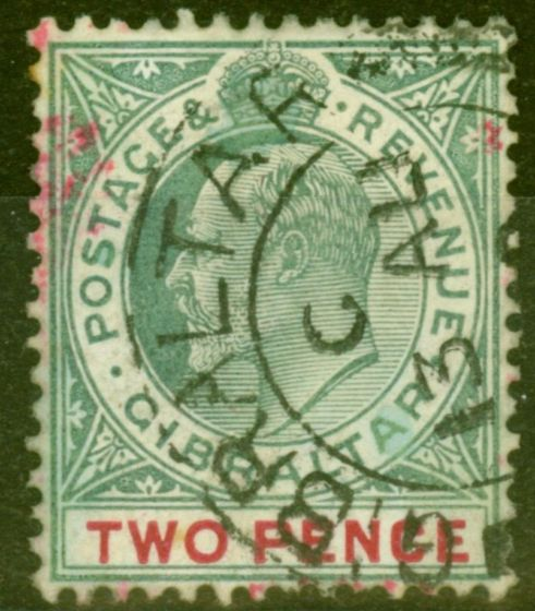 Valuable Postage Stamp from Gibraltar 1905 2d Grey-Green & Carmine SG58 Fine Used