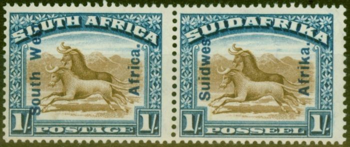 Collectible Postage Stamp from South West Africa 1927 1s Brown & Blue SG51 Fine & Fresh Very Lightly Mtd Mint