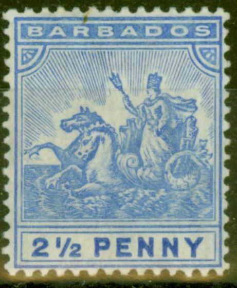 Valuable Postage Stamp from Barbados 1905 2 1/2d Blue SG139 Fine Lightly Mtd Mint