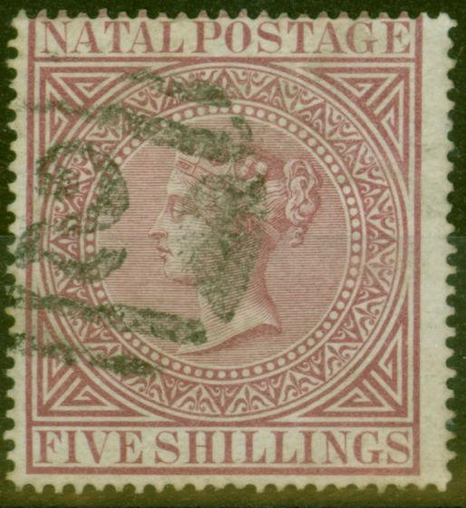 Valuable Postage Stamp from Natal 1874 5s Maroon SG71a P.15.5 x 15 Fine Used