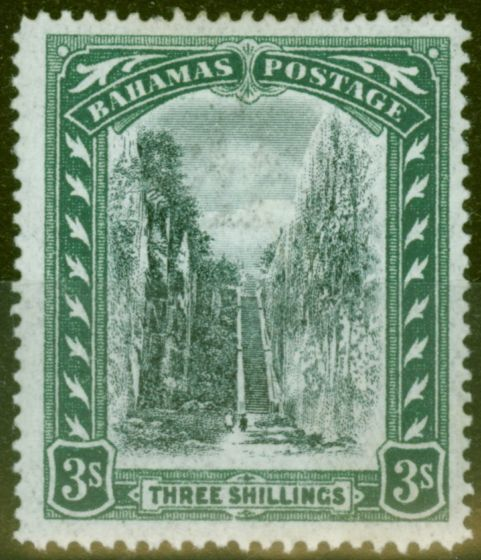Valuable Postage Stamp from Barbados 1903 3s Black & Green SG61 Fine & Fresh Lightly Mtd Mint