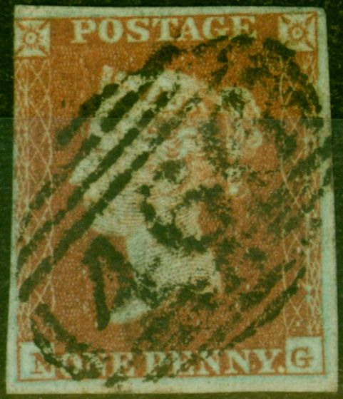 Rare Postage Stamp from GB 1841 1d Red-Brown SG8 Fine Used