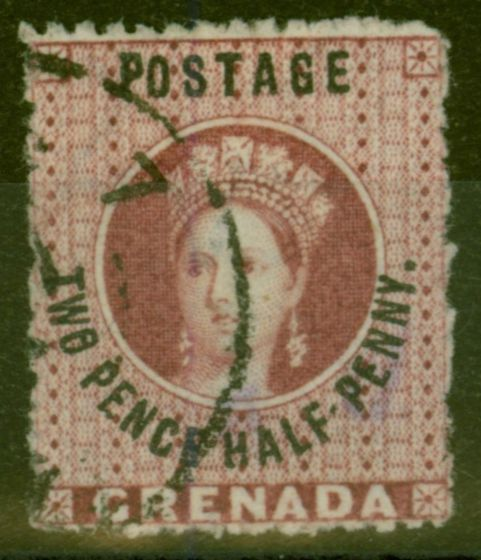 Collectible Postage Stamp from Grenada 1881 2 1/2d Claret SG25 V.F.U