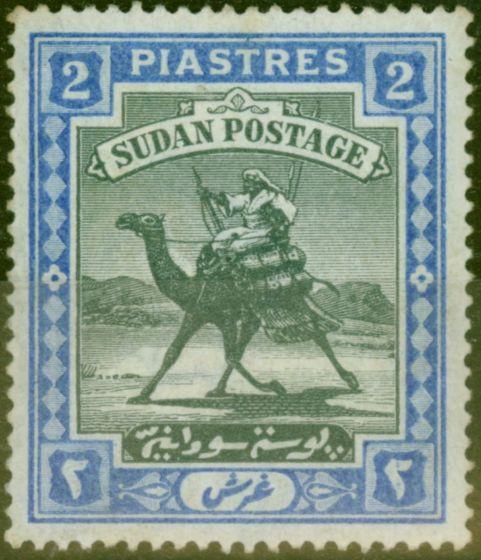 Rare Postage Stamp from Sudan 1898 2p Black & Blue SG15 Fine Mtd Mint