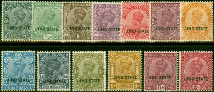 Jind 1927-37 Set of 13 to 12a SG84-97 Ex 9p Fine & Fresh Mtd Mint