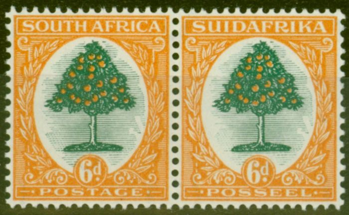 Rare Postage Stamp from South Africa 1926 6d Green & Orange SG32 Fine & Fresh Very Lightly Mtd Mint