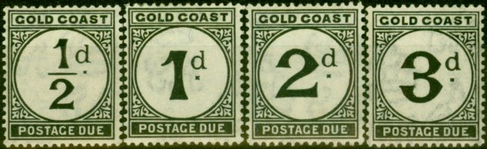 Old Postage Stamp from Gold Coast 1923 Postage Due Set of 4 SGD1-D4 Fine Mtd Mint