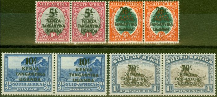 Collectible Postage Stamp from KUT 1941-42 set of 4 SG151-154 Fine Lightly Mtd Mint