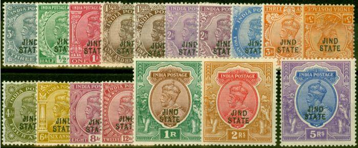 Jind 1914-27 Extended Set of 17 SG64-78 Fine & Fresh Mtd Mint