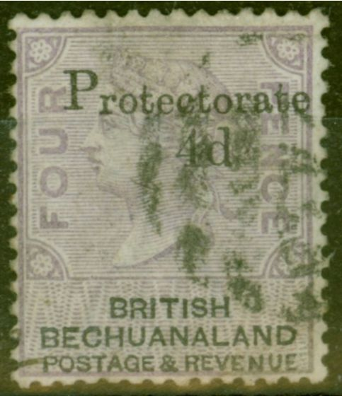 Collectible Postage Stamp from Bechuanaland 1888 4d on 4d Lilac & Black SG44 Fine Used