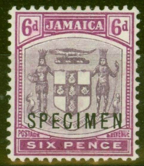 Collectible Postage Stamp from Jamaica 1911 6d Dull & Brt Purple Specimen SG44s Fine & Fresh Lightly Mtd Mint