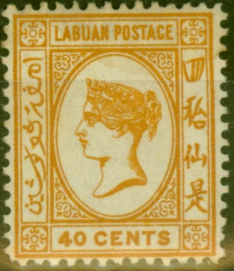 Old Postage Stamp from Labuan 1893 40c Brown-Buff SG47a Fine Mtd Mint (18)