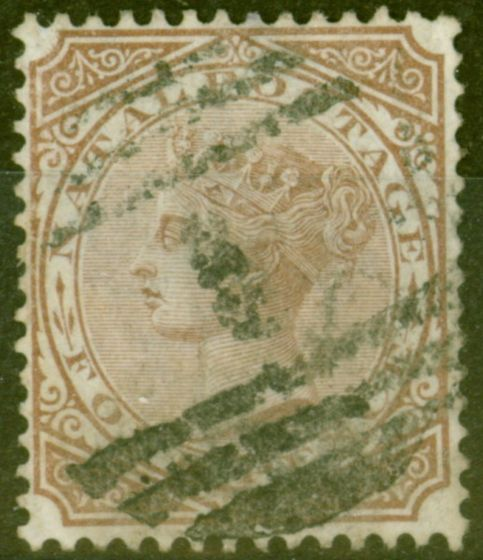 Valuable Postage Stamp from Natal 1878 4d Brown SG69 Fine Used