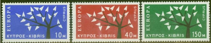 Collectible Postage Stamp from Cyprus 1963 Europa set of 3 SG224-226 Fine & Fresh Lightly Mtd Mint