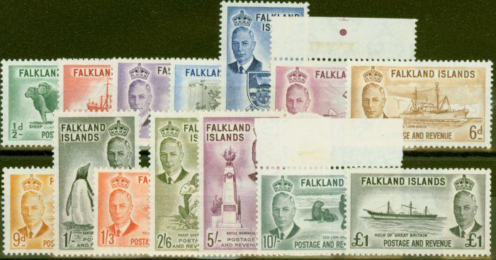 Valuable Postage Stamp from Falkland Islands 1952 set of 14 SG172-185 V.F MNH & VLMM