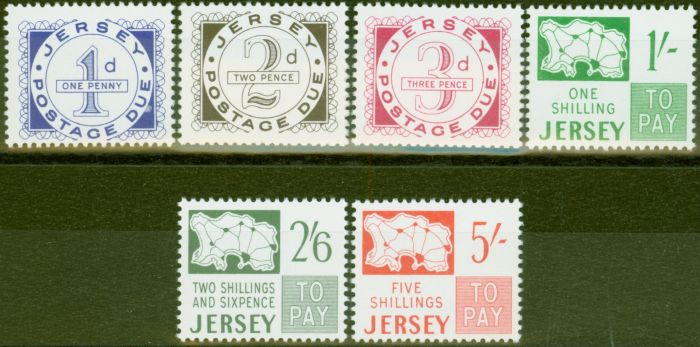 Old Postage Stamp from Jersey 1969 P.Due set of 6 SGD1-D6 V.F MNH