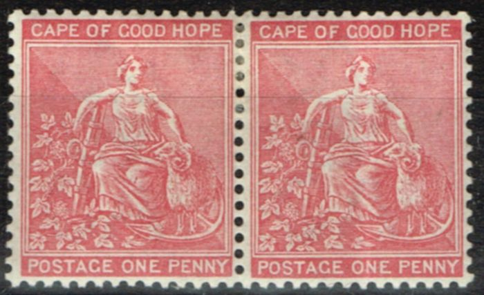 Old Postage Stamp from COGH 1882 1d Rose-Red SG41 Fine & Fresh Mtd Mint Pair