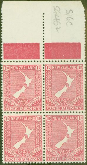 Rare Postage Stamp from New Zealand 1925 1d Carmine-Pink SG462 V.F MNH Block of 4