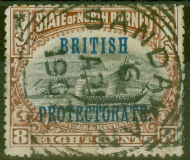 Valuable Postage Stamp from North Borneo 1901 8c (No 103) SG133 P.14 x Comp 12 Fine Used