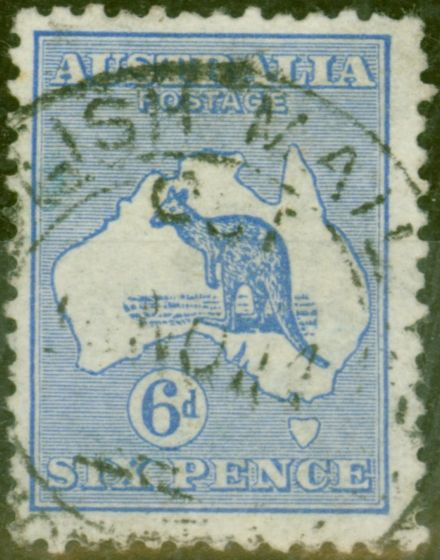 Collectible Postage Stamp from Australia 1913 6d Ultramarine SG9 Fine Used
