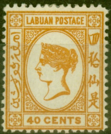 Collectible Postage Stamp from Labuan 1893 40c Brown-Buff SG47a Fine Mtd Mint (21)