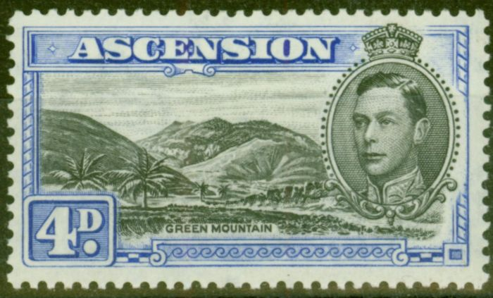 Collectible Postage Stamp from Ascension 1940 4d Black & Ultramarine SG42c V.F Very Lightly Mtd Mint
